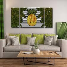 Living Room Art Sets Ready2hangart U0027pineapple Trail U0027 3 Pc Wrapped Canvas