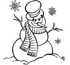 snowman coloring page lezardufeu com