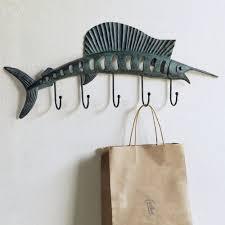 themed wall hooks sailfish wall hook coat towel rack key hanger coastal fish