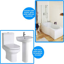 shower bath suites harmony close coupled toilet and basin with shower bath suite