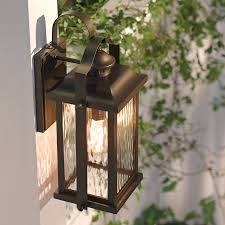 kichler outdoor lighting lowes shop kichler lighting linford 15 in h olde bronze outdoor wall light