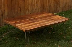 rectangular wood hairpin coffee table arbor exchange reclaimed wood furniture rustic coffee table with