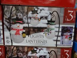 Solar Lantern Lights Costco - snowman pathway lights