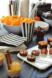 basketball party table decorations basketball party ideas for your b ball themed celebration cheer on
