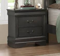 homelegance 2147sg 4 classic louis phillippe grey wood nightstand