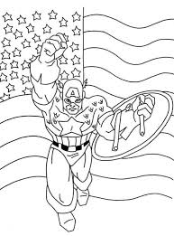 cool captain america coloring pages kids kleurplaat