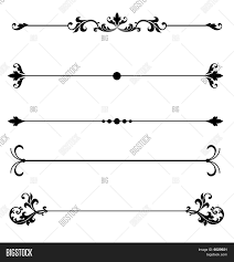 ornamental scroll line vector photo bigstock