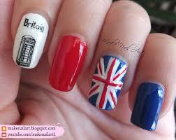 British Flag Nails Make Nail Art August 2016