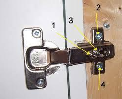 adjusting kitchen cupboard doors and hinges how to adjust door