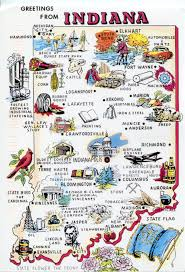 Lafayette Indiana Map Indiana Map Remembering Letters And Postcards