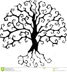 halloween silhouette vector druidic yggdrasil tree round gothic logo halloween style vector