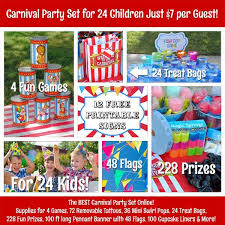 carnival party supplies carnival party supplies prizes and for 24 guests just 7