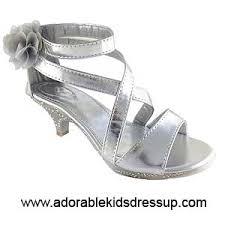 girls silver dress shoes high heels for girls