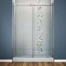 maax halo 60 in x 78 3 4 in frameless sliding shower door clear