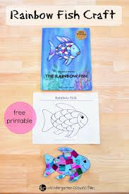 rainbow fish craft kindergarten connection