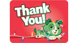 christmas thank you cards scout christmas thank you card