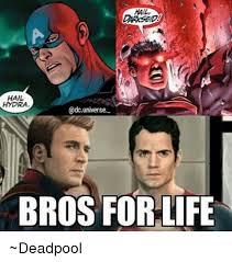 Hail Hydra Meme - hail hydra universe bros for life deadpool life meme on me me