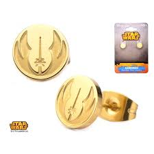 wars earrings wars gold plated jedi order symbol stud earrings