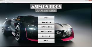 simple car rental system using vb net free source code