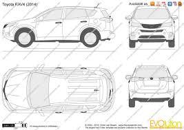 dimensions of toyota rav4 the blueprints com vector drawing toyota rav4