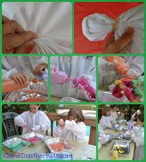 come together kids how to tie dye with acrylic paints