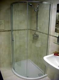 Bathroom Corner Shower Ideas Bathroom Modern Beige Travertine Corner Shower Tile Wall