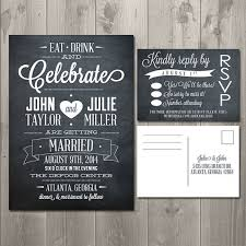 Eat Drink And Be Married Invitations Chalkboard Wedding Invitations Marialonghi Com