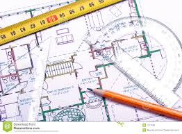 floor plan and architect u0027s tools royalty free stock photos image