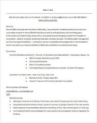 Mba Resume Templates Resume For Mba Graduates Best Resume Collection