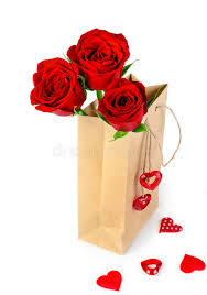 bag of valentine roses stock image image of close rose 48853061