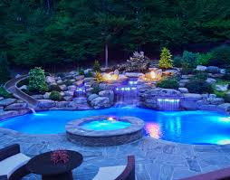 Pool Landscape Lighting Ideas Swimming Pool Lighting Ideas For Your Backyard Renovation