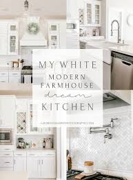 modern farmhouse kitchen cabinets white my white modern farmhouse kitchen rockford michigan