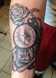 pocket watch u0026 rose tattoo by alix rivera in orlando florida
