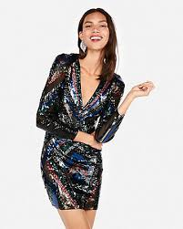 Womens Sequin Dresses Skirts  Tops  Express