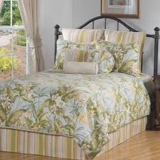 Coastal Quilts Bedroom Tropical Bedspreads Palm Tree Comforter Sets Tropical