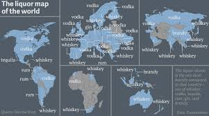 Worlds Map by The World According To Hard Alcohol U2014 Quartz