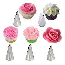 online decorating tools 5 pcs set rose petal metal cream tips cake decorating tools steel