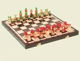 beautiful chess sets polish art center babushki polish chess set