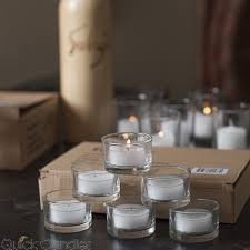 Tea Light Candles Richland Tealight Candles White Citronella Scented Clear Cup Set