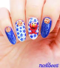 3d cookie monster nail art nailbees