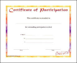 certificate of participation format free certificate of