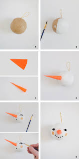 mer mag make your own simple diy snowman ornament mer mag