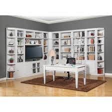 parker house boca 12pc corner library bookcase wall unit with desk