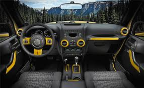 4 Door Jeep Interior E Cowlboy 18 Pcs Set Interior Decoration Trim Kit