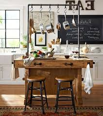 pottery barn kitchen decor distressed white paint finish