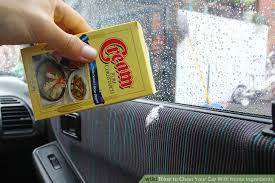Interior Windshield Cleaning Tool How To Clean Your Car With Home Ingredients With Pictures
