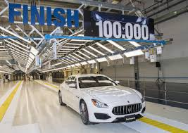 maserati velvet maserati avv giovanni agnelli plant produces 100 000th car since