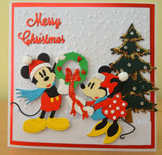 handmade christmas card mickey u0026 minnie mouse disney die for