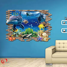 3d dolphin wall stickers for kids art u0026 craft online store
