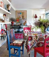 dining room with bohemian style decor stunning bohemian style